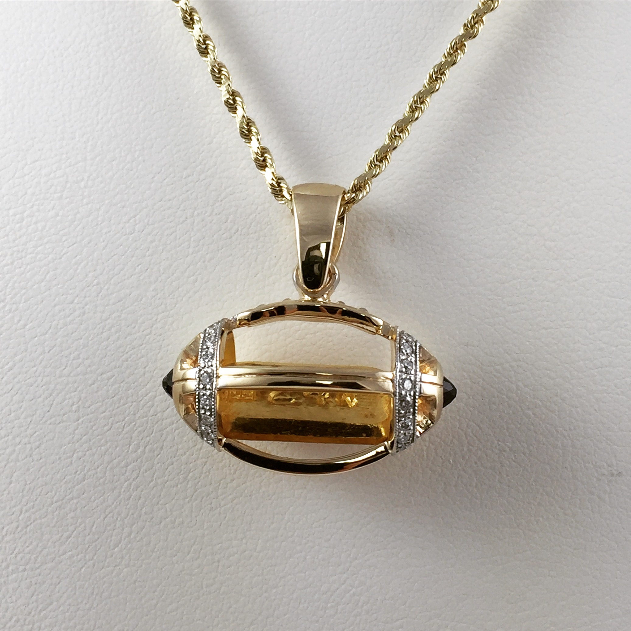 blue yellow gold a allure products diamonds sapphire diamond one by surrounded burst and cut kt center of necklace stone round brilliant pendant custom