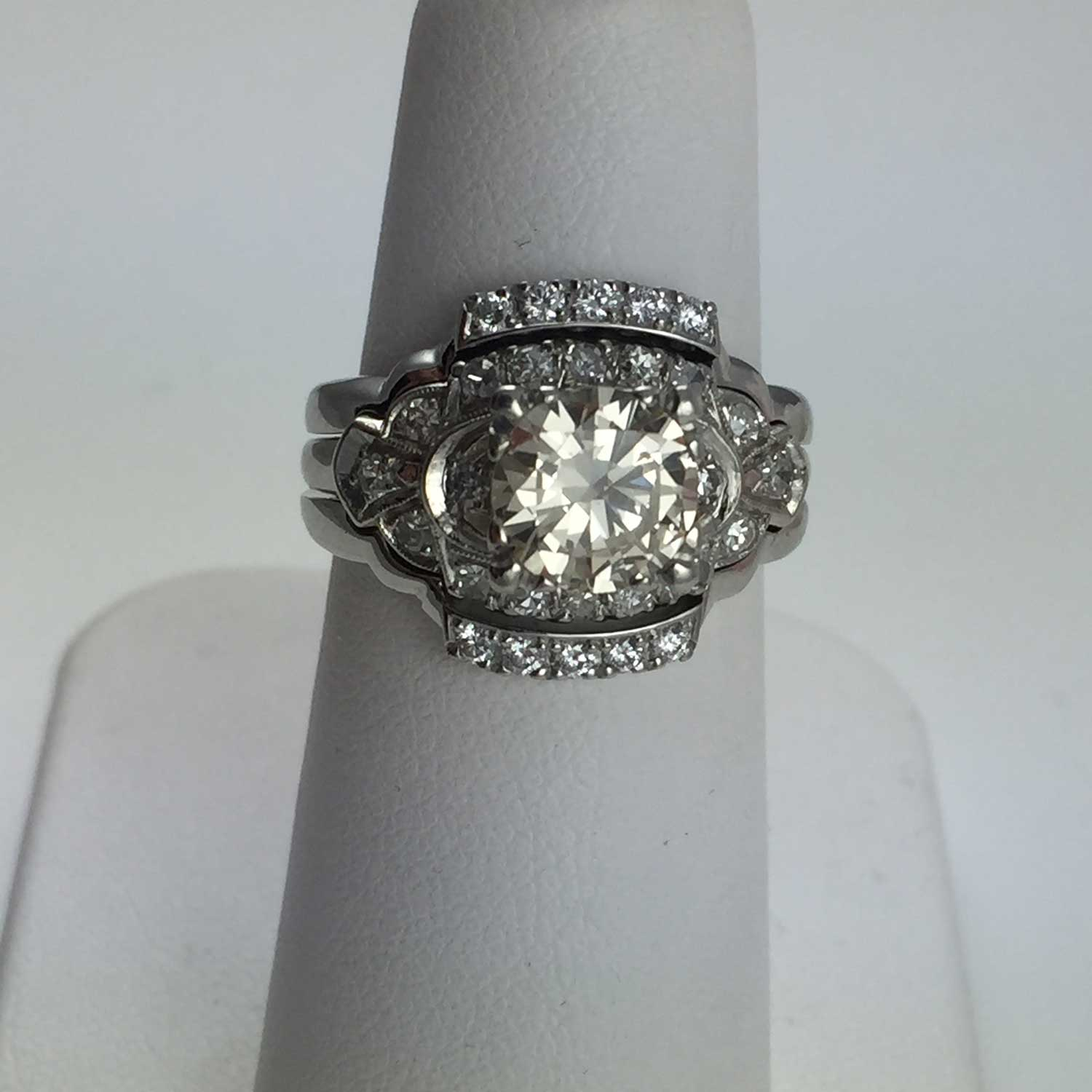 ring modern drop wedding engagement rings dew info with custom tropicaltanning jewellery style